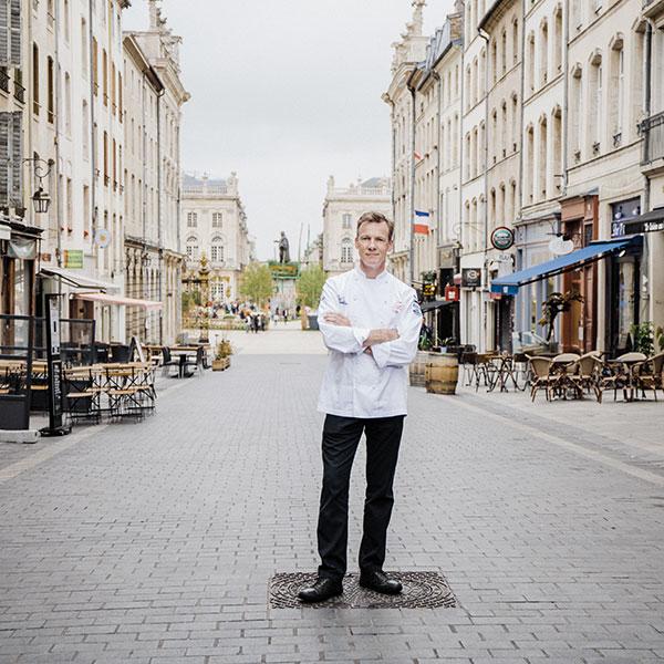 Patrick Fréchin, chef du restaurant Transparence rue Stanislas à Nancy