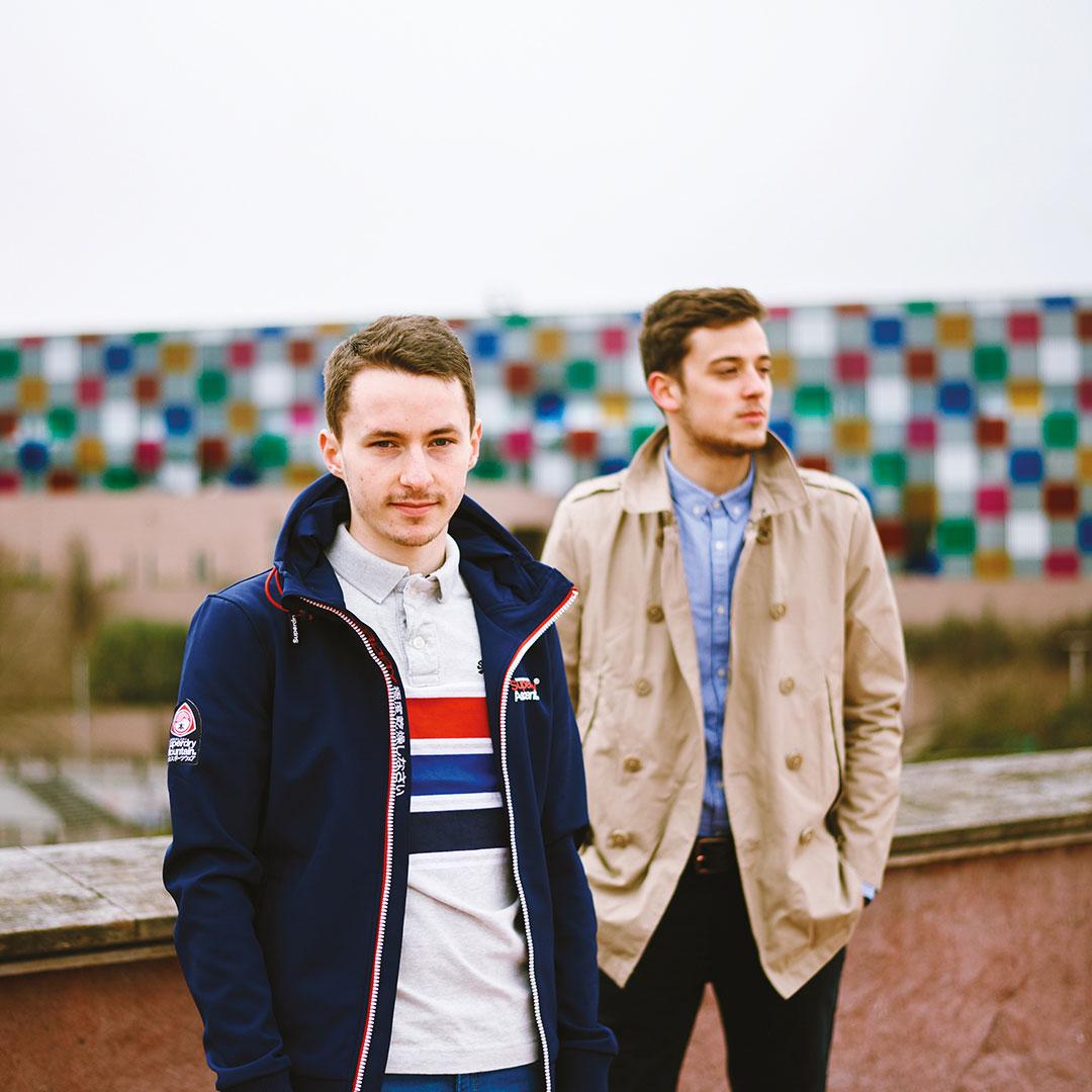 Chris et Nate du groupe Hilarious à Strasbourg