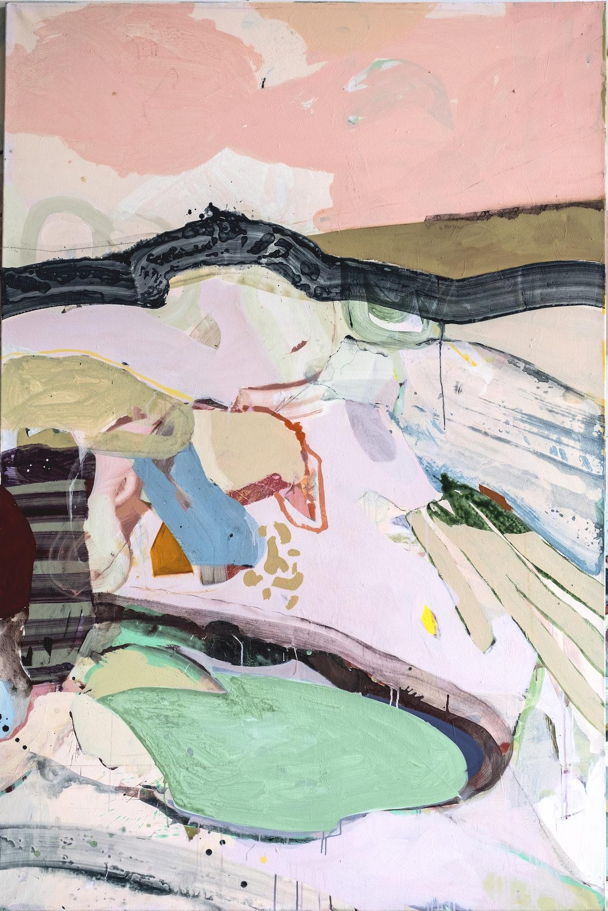 Atelier Anne-sophie Tschiegg - peinture - Photo : Klara Beck