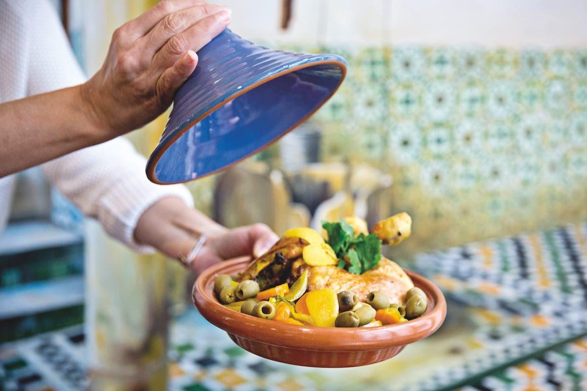Tajine de poulet aux olives de la pâtisserie Nour à Metz