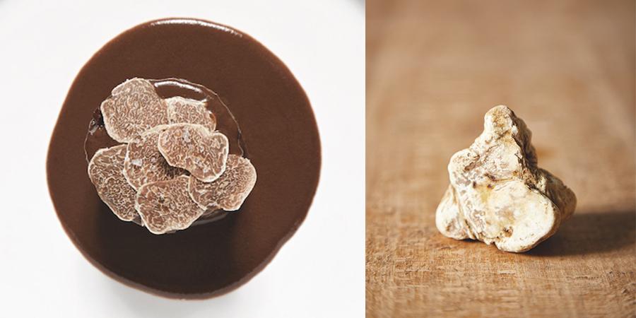 Lièvre à la Royale parsemé de truffes blanches d'Alba. © Alexis Delon / Preview