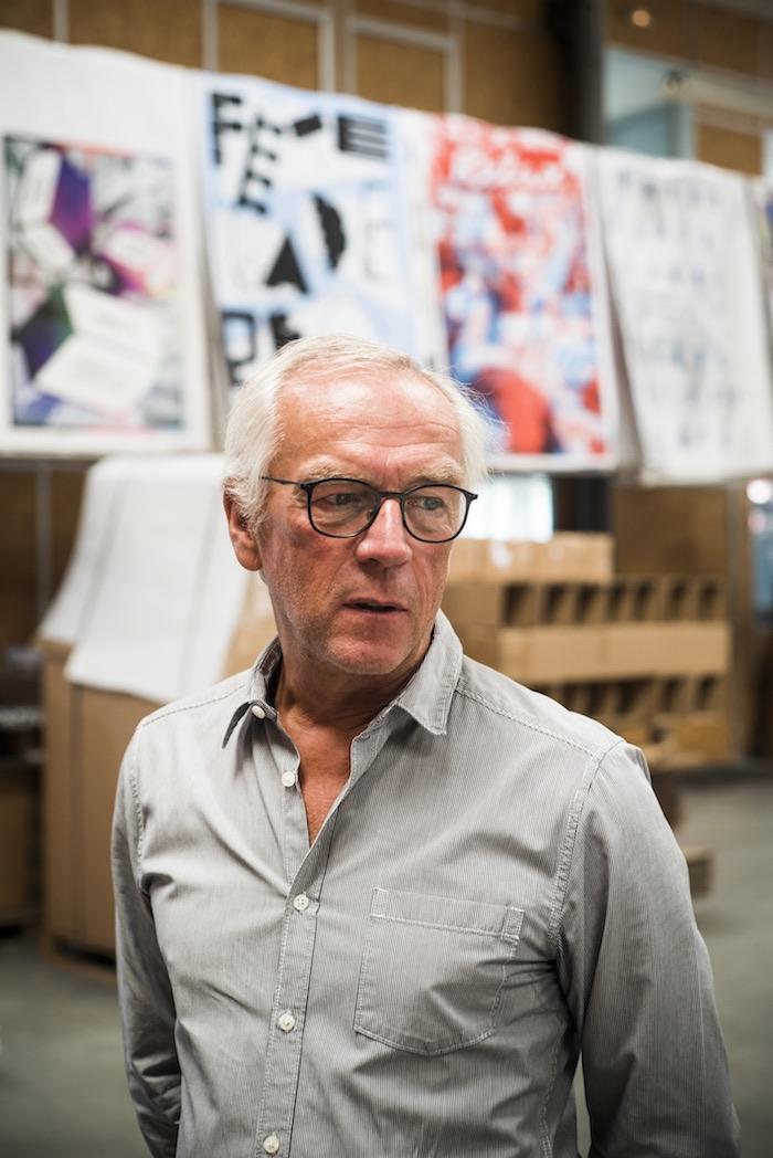 Jean-Yves Grandidier, fondateur de Lézard Graphique, atelier de sérigraphie, Brumath. © Pascal Bastien