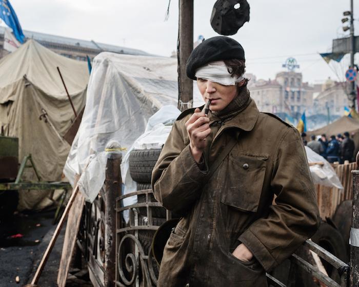 Après les combats, à Kiev, place Maïdan. © Guillaume Herbaut