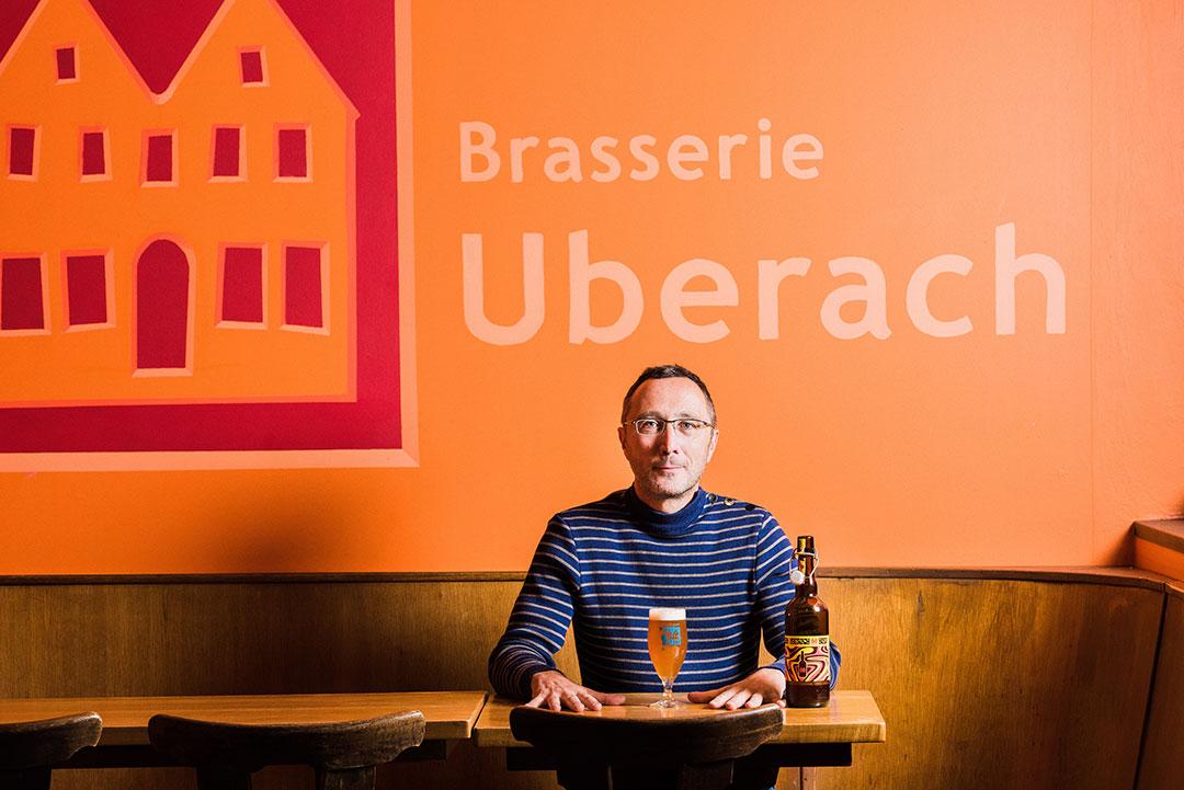 Éric Trossat, fondateur de la Brasserie Uberach - © Milan Szypura