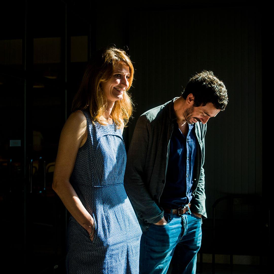 Zut magazine - Comédie de l'Est avec Émilie Capliez et Matthieu Cruciani. Photo : Pascal Bastien