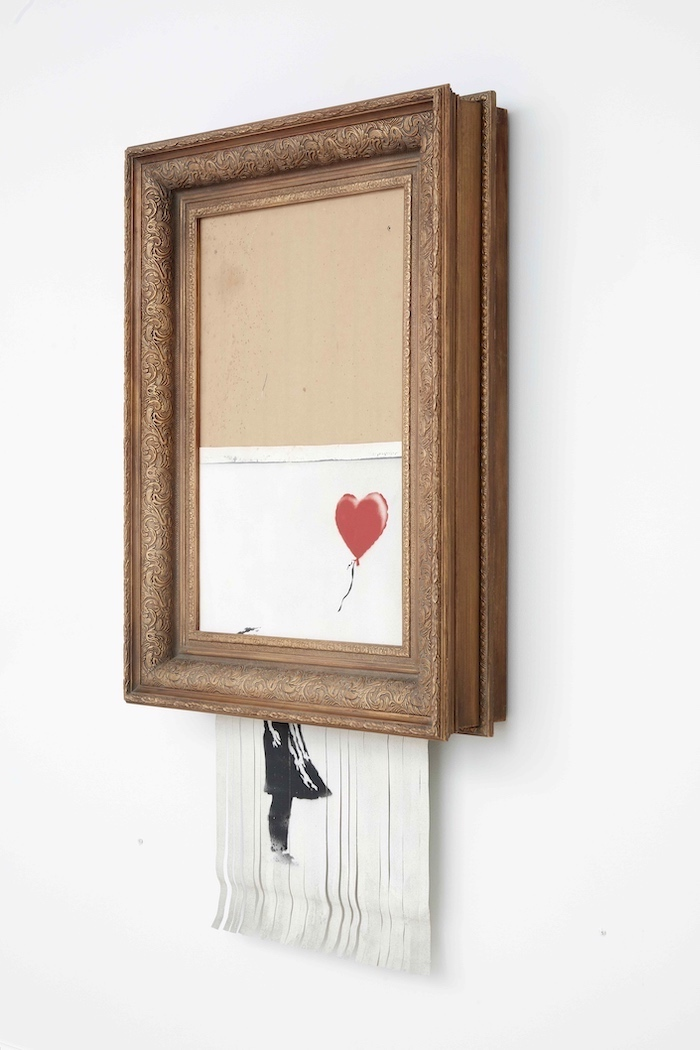 Banksy, Love is in the Bin, 2018, Collection privée, Photo : Sotheby's © Banksy - Pest Control