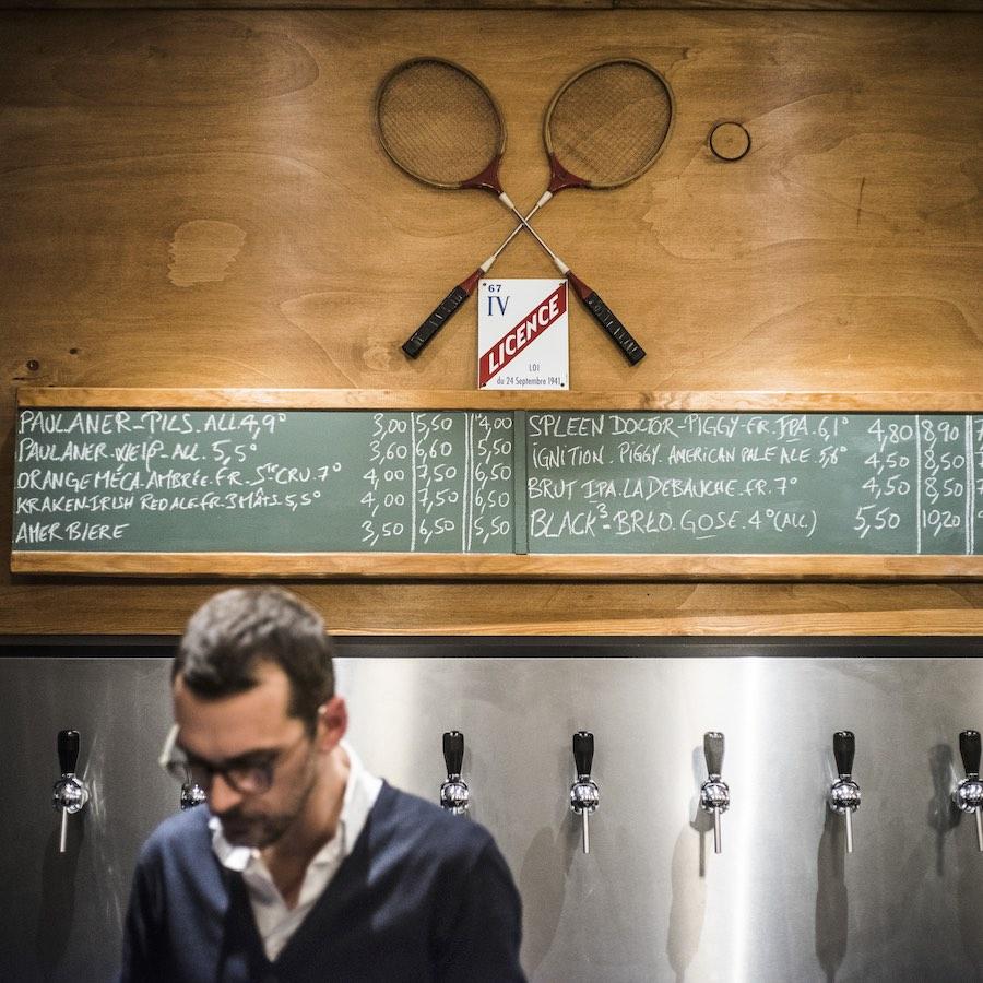 Bières artisanales au Café des Sports à Strasbourg. © Pascal Bastien