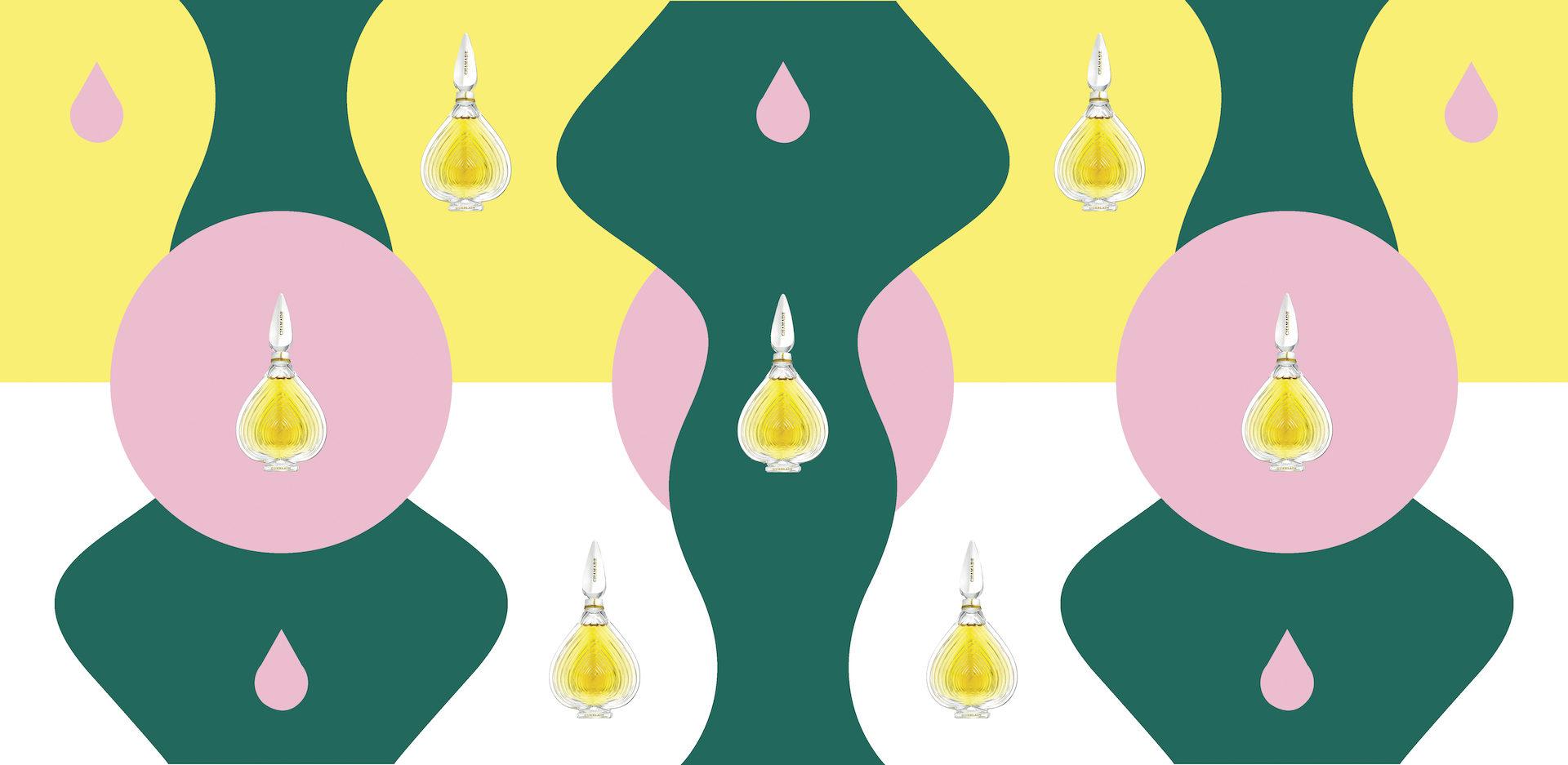 Illustration pour la parfum Chamade, lancé en 1969 par la maison Guerlain © Laetitia Gorsy