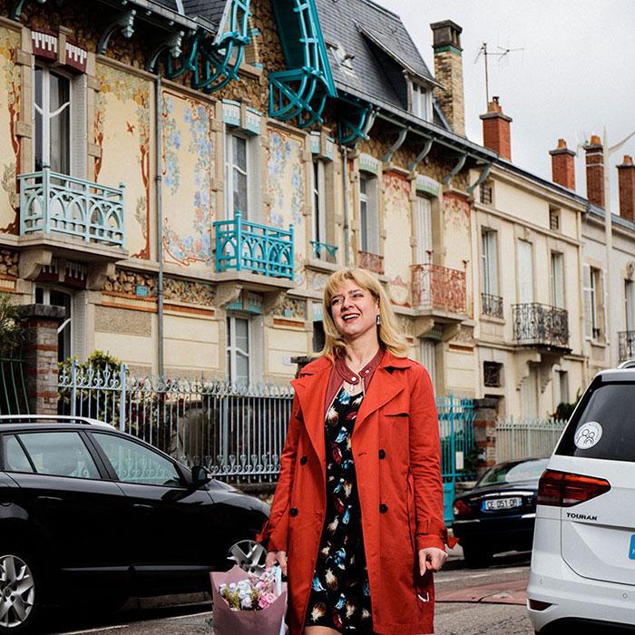 Veronique Laumesfelt créatrice de la boutique Ver' Autre Chose à Nancy © Arno Paul