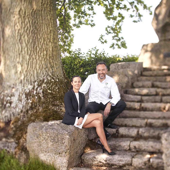 Anne et Pierre Weller, propriétaires de la Source des Sens. © Alexis Delon
