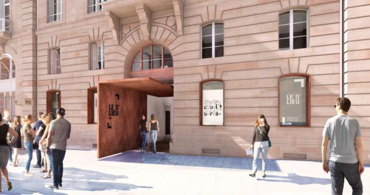 ZUT-MAGAZINE—JOURNEE-ARCHITECTURE-STRASBOURG-2019—_Porche-depuis-place_lettrage-noir---Crédit-nunc-architectes