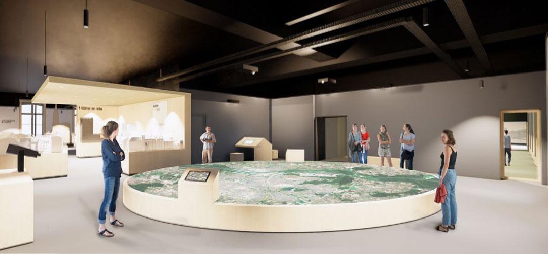 ZUT-MAGAZINE—JOURNEE-ARCHITECTURE-STRASBOURG-2019—grande-maquette-dans-la-salle-d'exposition---©nunc-architectes