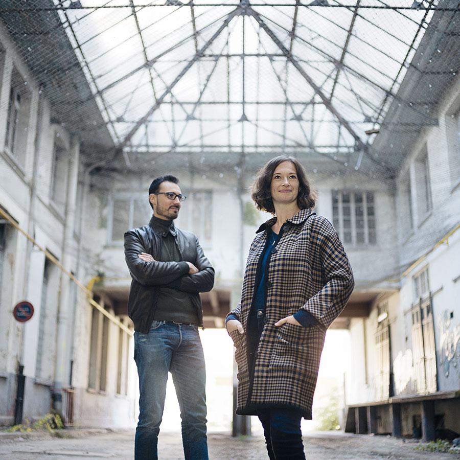 ZUT-MAGAZINE—Cécile etKevin Weyhaubt, directeurs associésd'Espace Atypique à Strasbourg, photographiée à la Coop- ©Henri Vogt