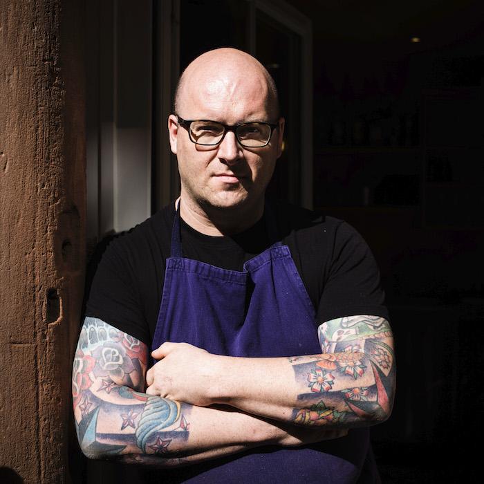 Portrait de Régis Gutapfel, chef du restaurant Perles de Saveurs. © Pascal Bastien