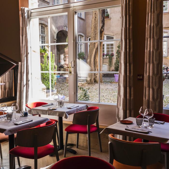 Une des salles du restaurant Perles de Saveurs à Strasbourg. © Pascal Bastien