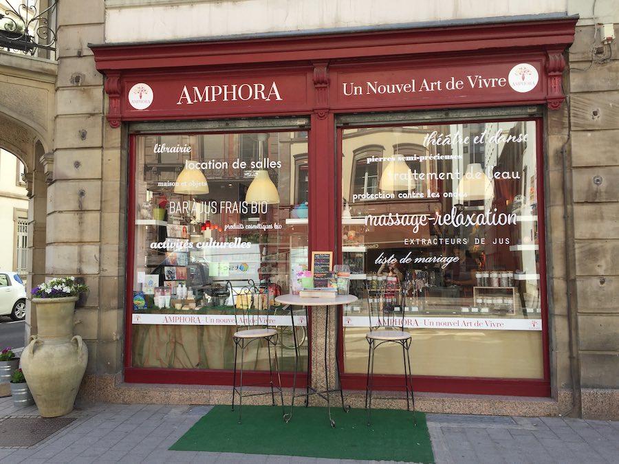 Boutique amphora nouvel art de vivre rue du Faubourg de pierre Strasbourg