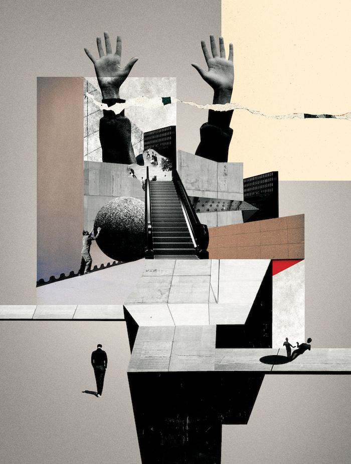 Illustration de Nadia Diz Grana, Reprendre place. Contre l'architecture du mépris, Mickaël Labbé