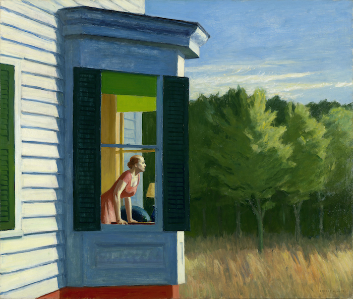 Edward Hopper, Cape Cod Morning, huile sur toile, 1950, © Smithsonian American Art Museum.