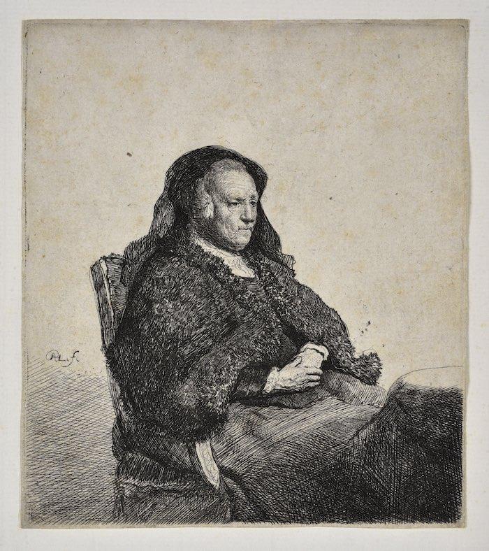 Rembrandt van Rijn, La Mère de l'artiste © Mathieu Bertola, Musées Strasbourg, Poitrey-Ballabio