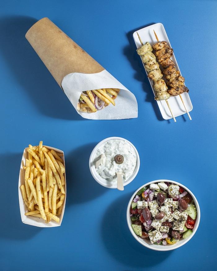 Les souvlaki, en sandwich pita ou en brochettes du restaurant Yamas à Strasbourg © Christophe Urbain