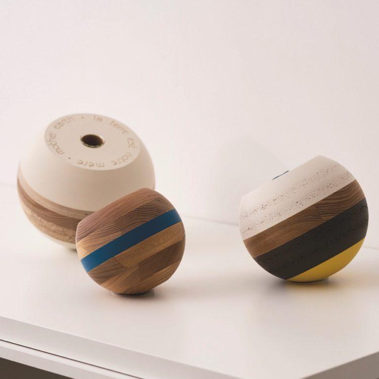 Vases sculptures, upcylcing, design de Beatrix Li-Chin Loss © Simon Pagès