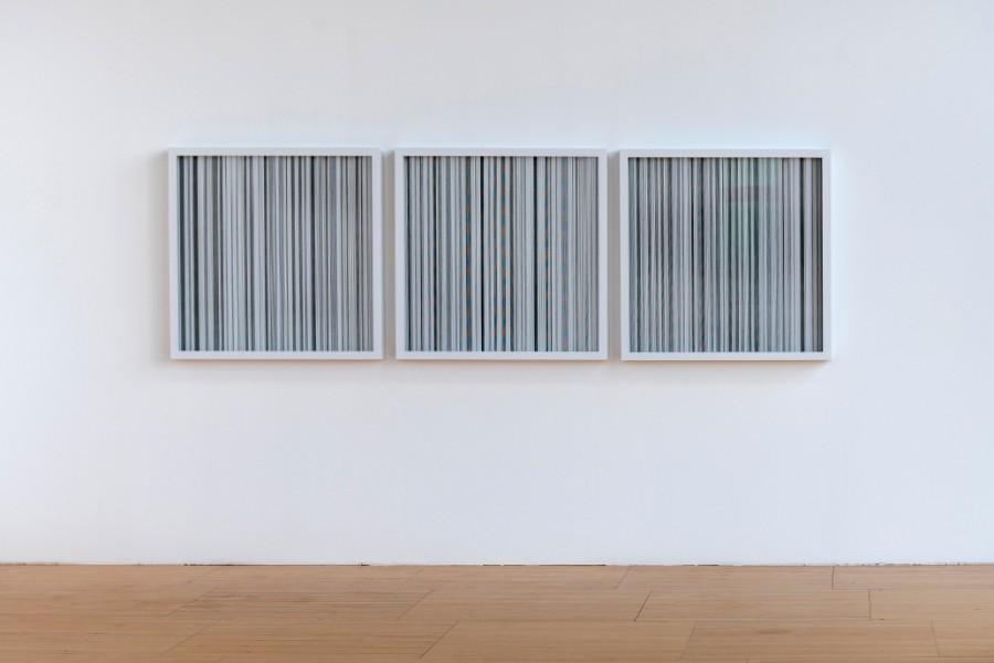 Vue de l'œuvre Tohoku, 9.0Mw, Japon, 11 mars 2011 dans l'exposition Le Pouls de la Terre de Jeongmoo Choi, au FRAC Alsace