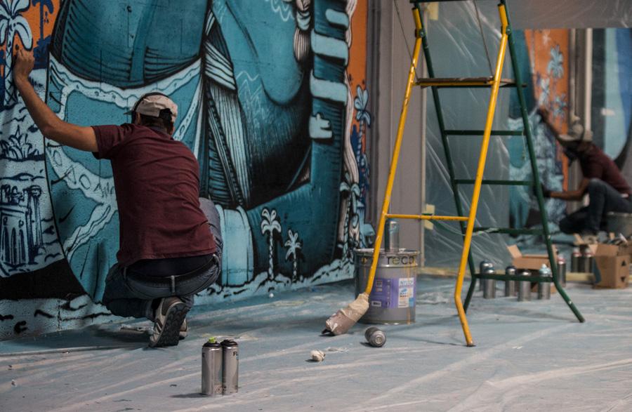 Selon les organisateurs, une œuvre muraliste correspond à deux ou trois jours de travail @ Martin Lelievre / Zut
