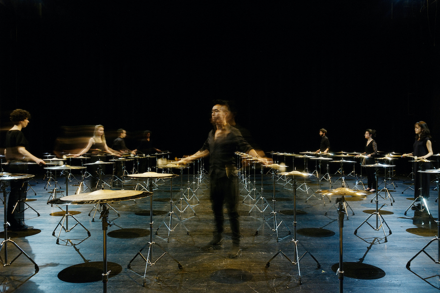 100 cymbals Ryoji Ikeda Percussions de Strasbourg