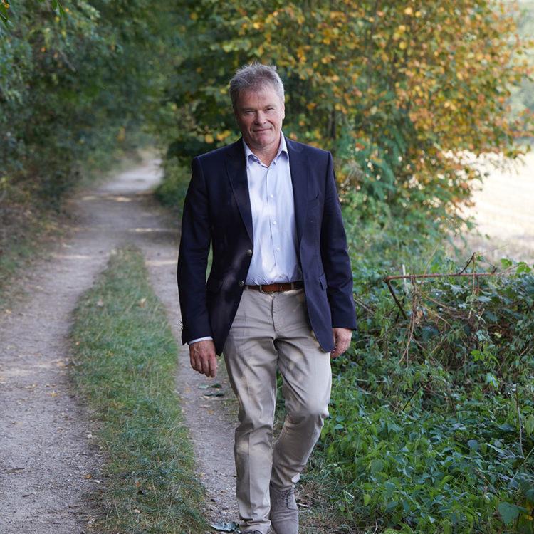 ZUT-HAGUENAU—Jean-Luc_Hoffmann, président de la Chambre des métiers d'Alsace, boucher - charcutier – traiteur, président de la corporation des bouchers-charcutiers du Bas-Rhin, photographié au chemin des friches ©Estelle Hoffert