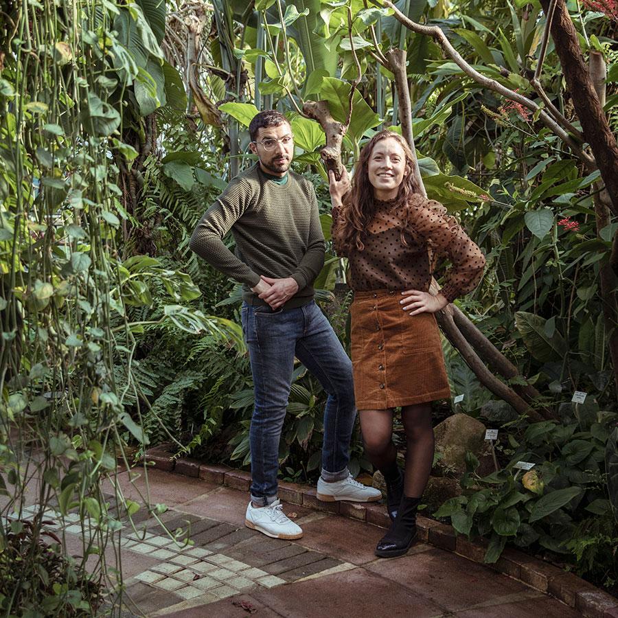 ZUT-LORRAINE—Alexande Seghaier et Morgane Lechaudel, créateurs du coffee-shop Sèves, photographiés dans les serres du Jardin Botanique ©William Henrion