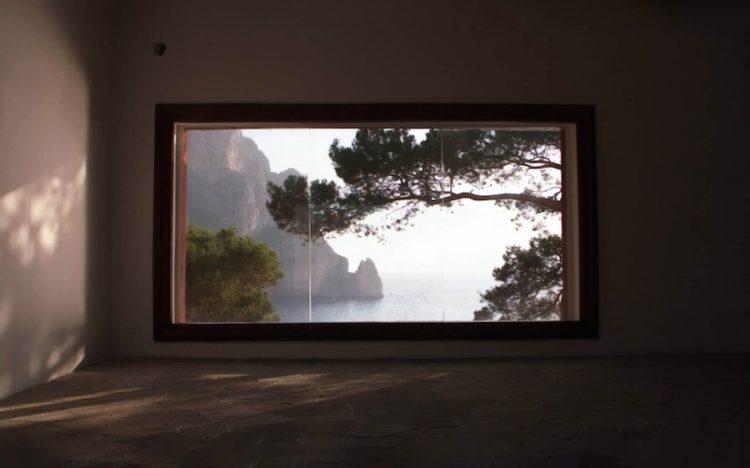 Villa Malaparte, vue de la fenêtre, italie, capri