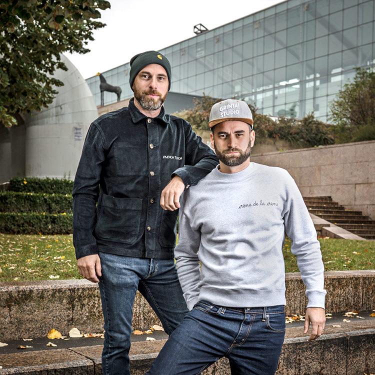 ZUT-STRASBOURG—Gaël et Geoffroy Baccus, créateurs de la société Grinta ! Studio, photographiés aux Ponts couverts @Jésus s. Baptista