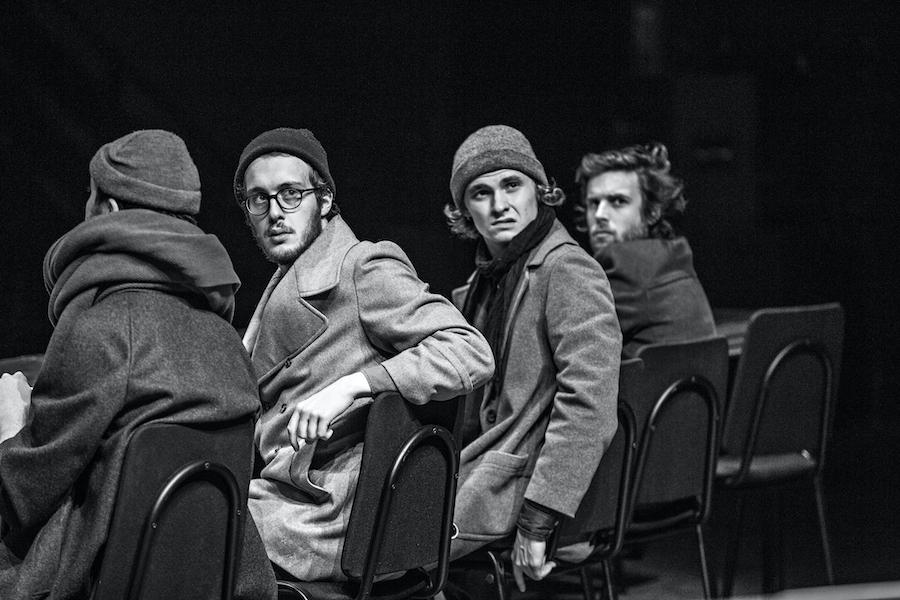 Jean-Pierre Vincent répétitions L'Orestie théâtre national de Strasbourg Jean-Louis FERNANDEZ
