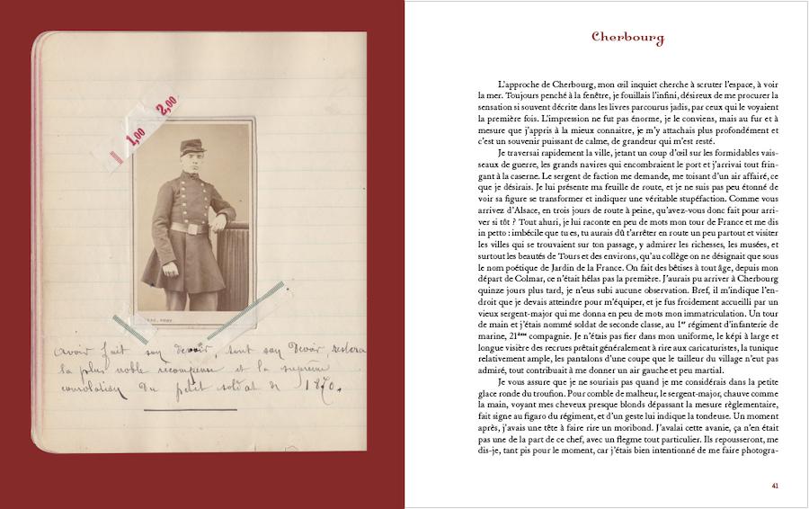 Double page extraite de 1870-1871 sur les pas du soldat Jules Reutinger