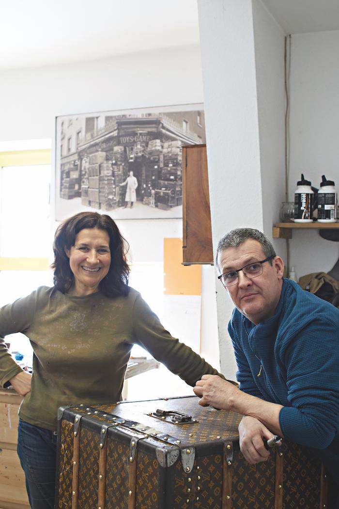 Marie et Jean-Philippe Rolland de la Malle en coin à Haguenau