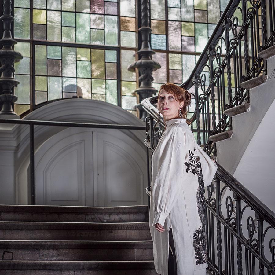 ZUT-STRASBOURG—Nathalie Berizzi Graux, artiste plasticienne, photographiée à la Haute école des arts duRhin (HEAR). ©Jésus s. Baptista